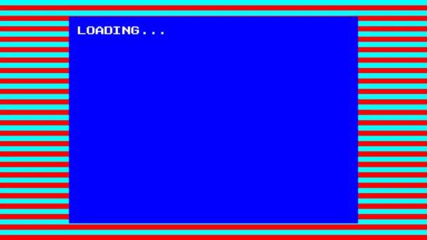 Retro styl 8 bit zavaděč simulace