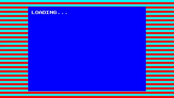 Retro styl 8 bitů počítače zavaděč s zelená obrazovka