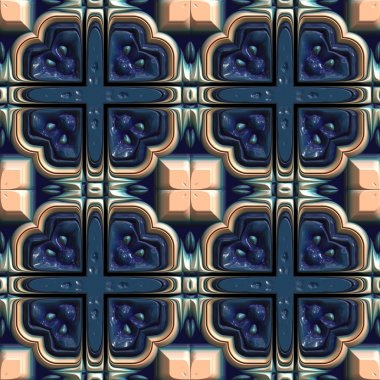 Glazed tiles seamless generated texture