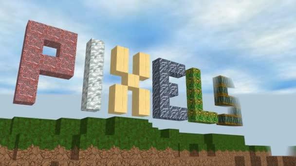 Krychle pixel svět generované video