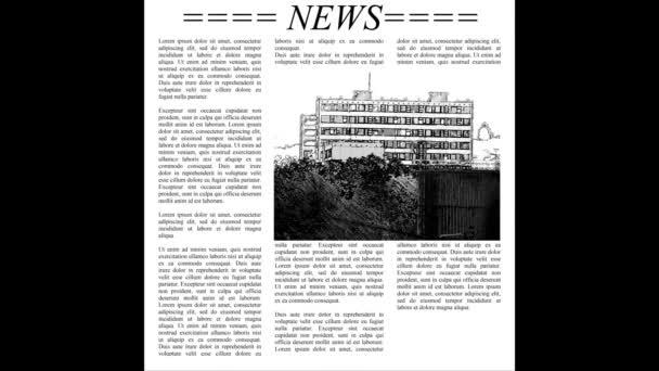 Posouvání noviny textem Lorem Ipsum, bezešvé smyčka video