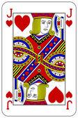 Pokerové hrací karta Jack srdce