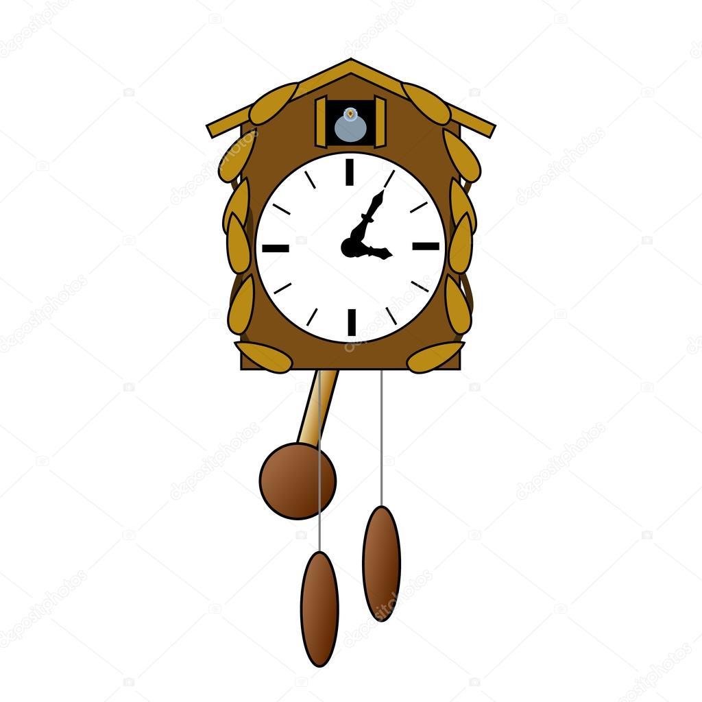 13d6bfc177b relógio de cuco — Vetor de Stock © PandaWild  82703992