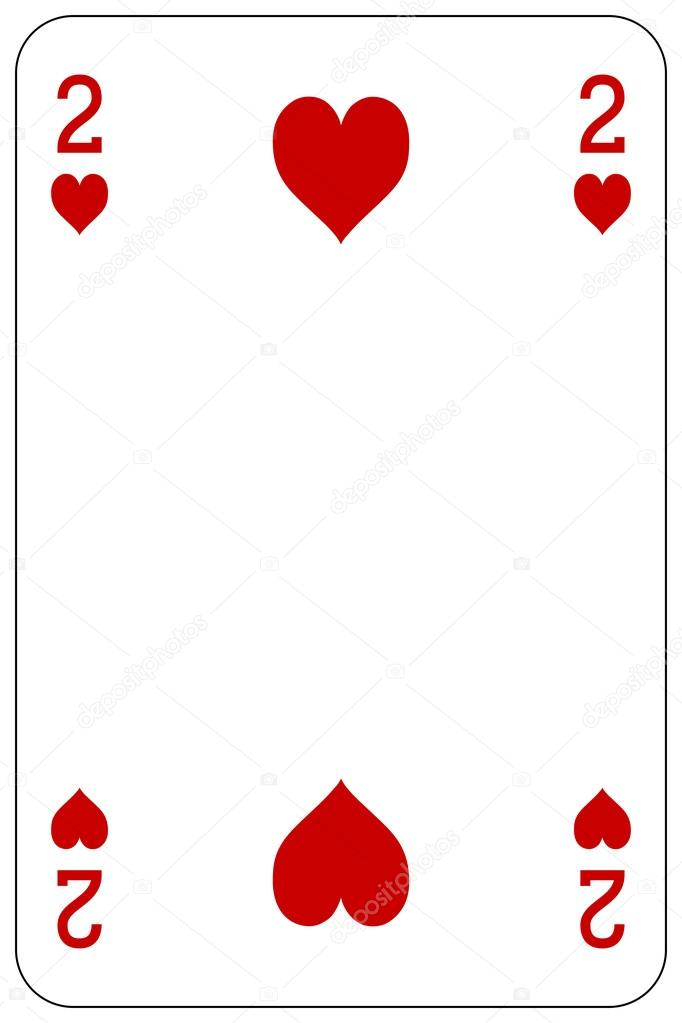 poker playing card 2 heart stock vector  u00a9 pandawild hearts vector png heart vector art