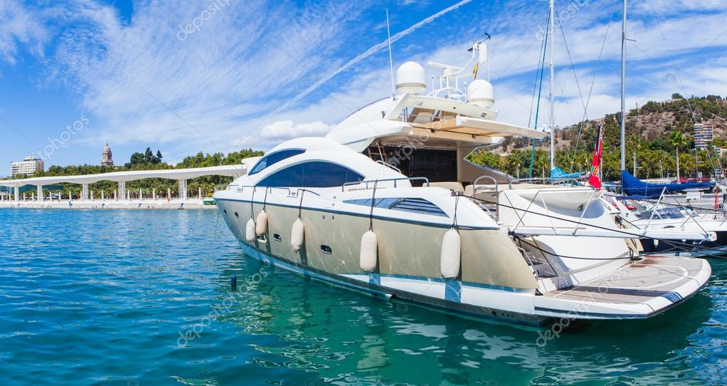 Luxury yacht at the port