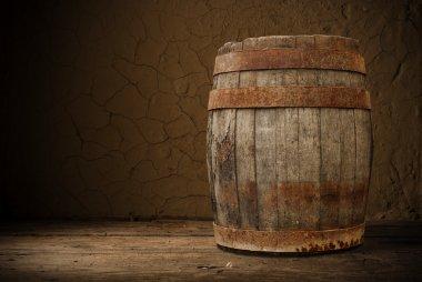Wooden barrel stock vector