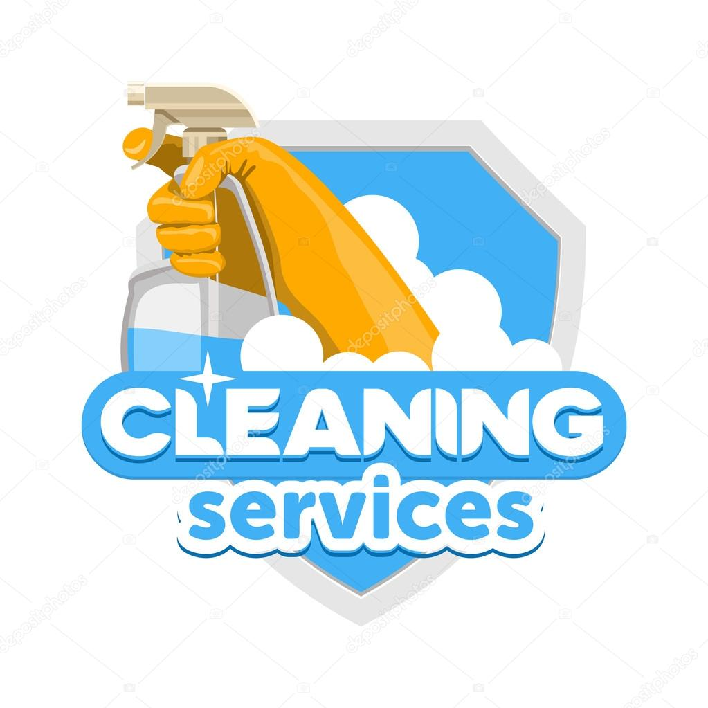 cleaning service logo stock vector natalimis 121575864 rh depositphotos com cleaning service logs cleaning service logs