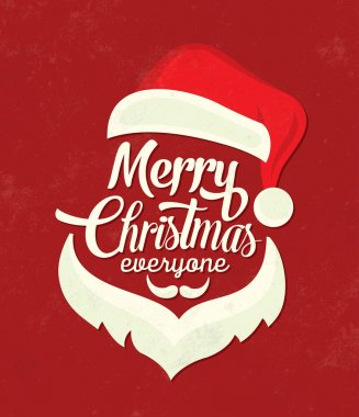 Christmas Typographic Background