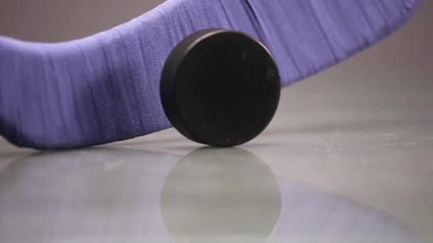 Hokejový puk a hokejka