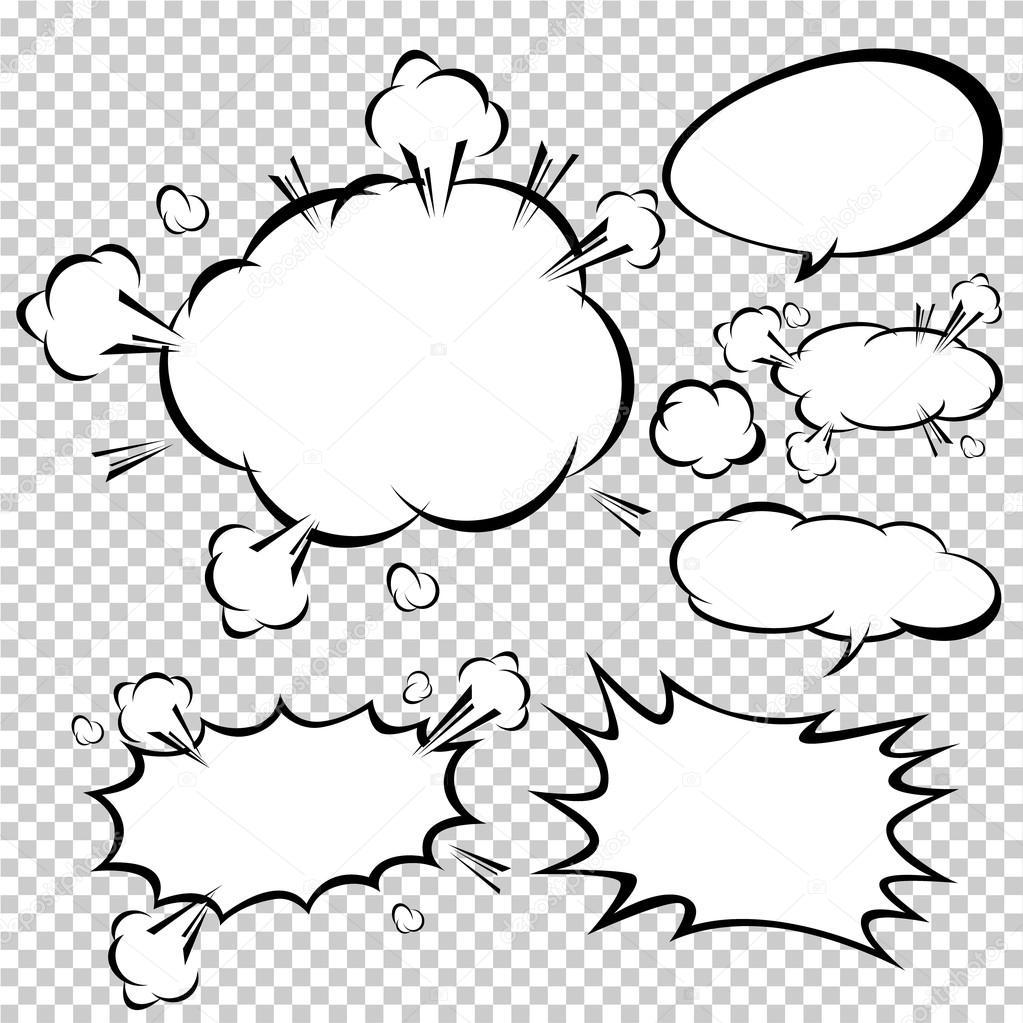 comic speech bubbles vector illustration stock vector jirawat rh depositphotos com speech bubble vector comic bubble vector free download