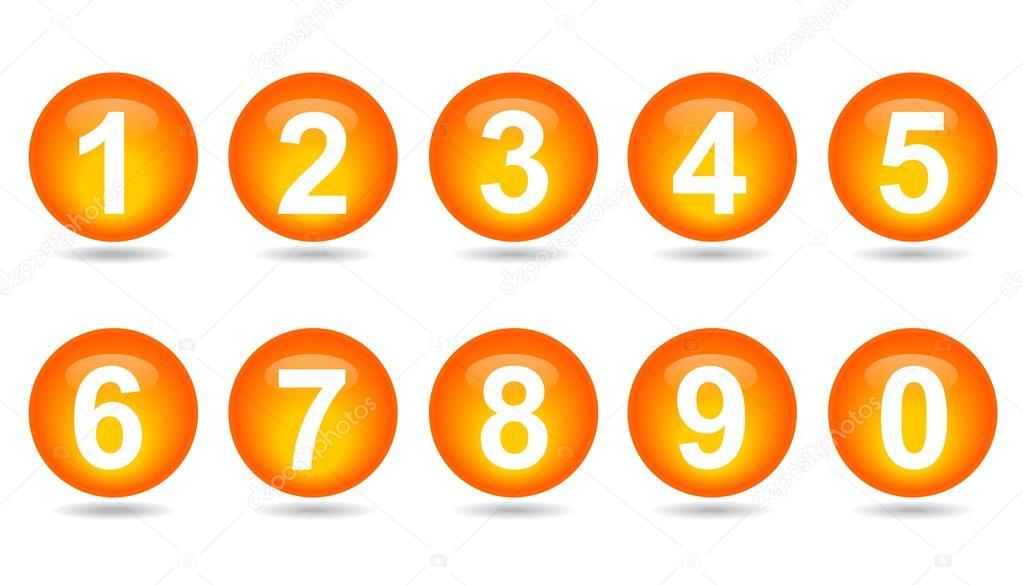 colecci n de los n meros naranja esferas archivo im genes vectoriales jirawat 94317760. Black Bedroom Furniture Sets. Home Design Ideas