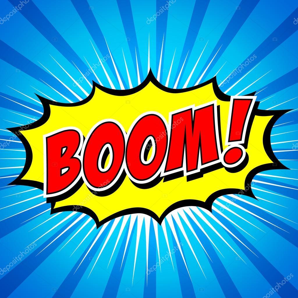 boom comic speech bubble cartoon stock vector jirawat 98167576