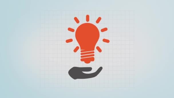 Žárovka v lidské ruce