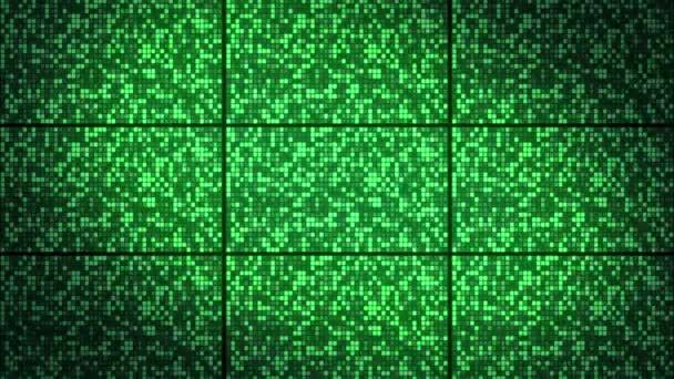 Csillogó zöld négyzetek fal háttér, hurok