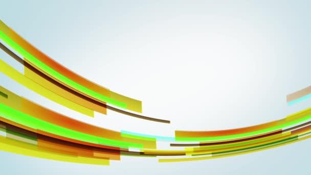 Animace s barevnými žluté linky v kruhu zleva doprava, smyčka