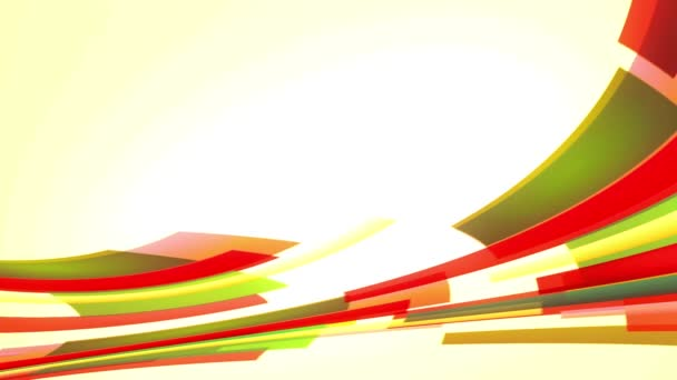 Animace s barevnými červené a zelené linky zleva doprava, smyčka