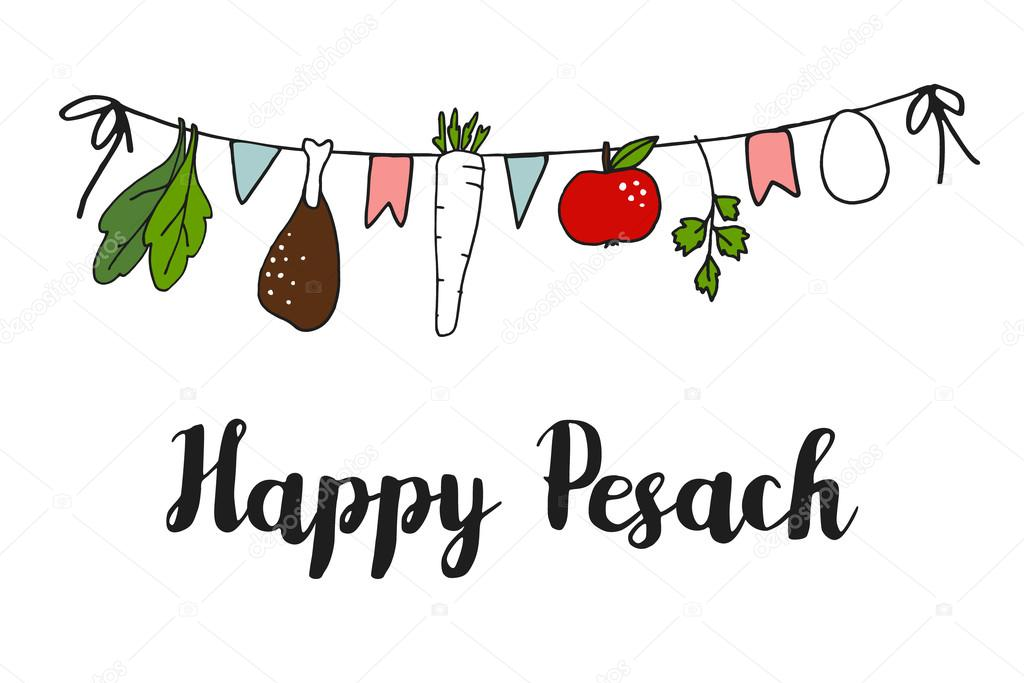 Pesach passover greeting card banner with hand drawn seder string pesach passover greeting card banner with hand drawn seder string vector stock vector m4hsunfo
