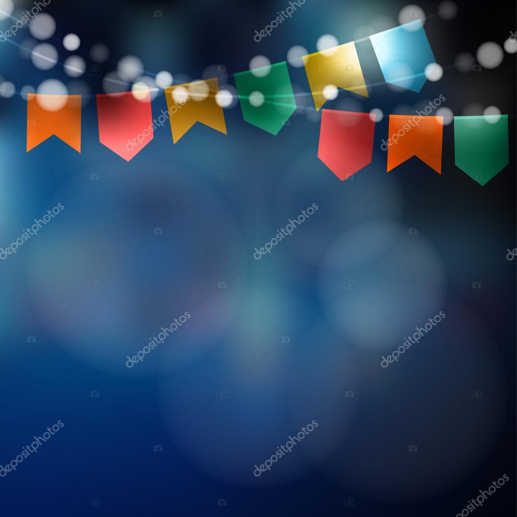 Brasilianische Dekoration brasilianische juni partei. festa junina. zeichenfolge der lichter