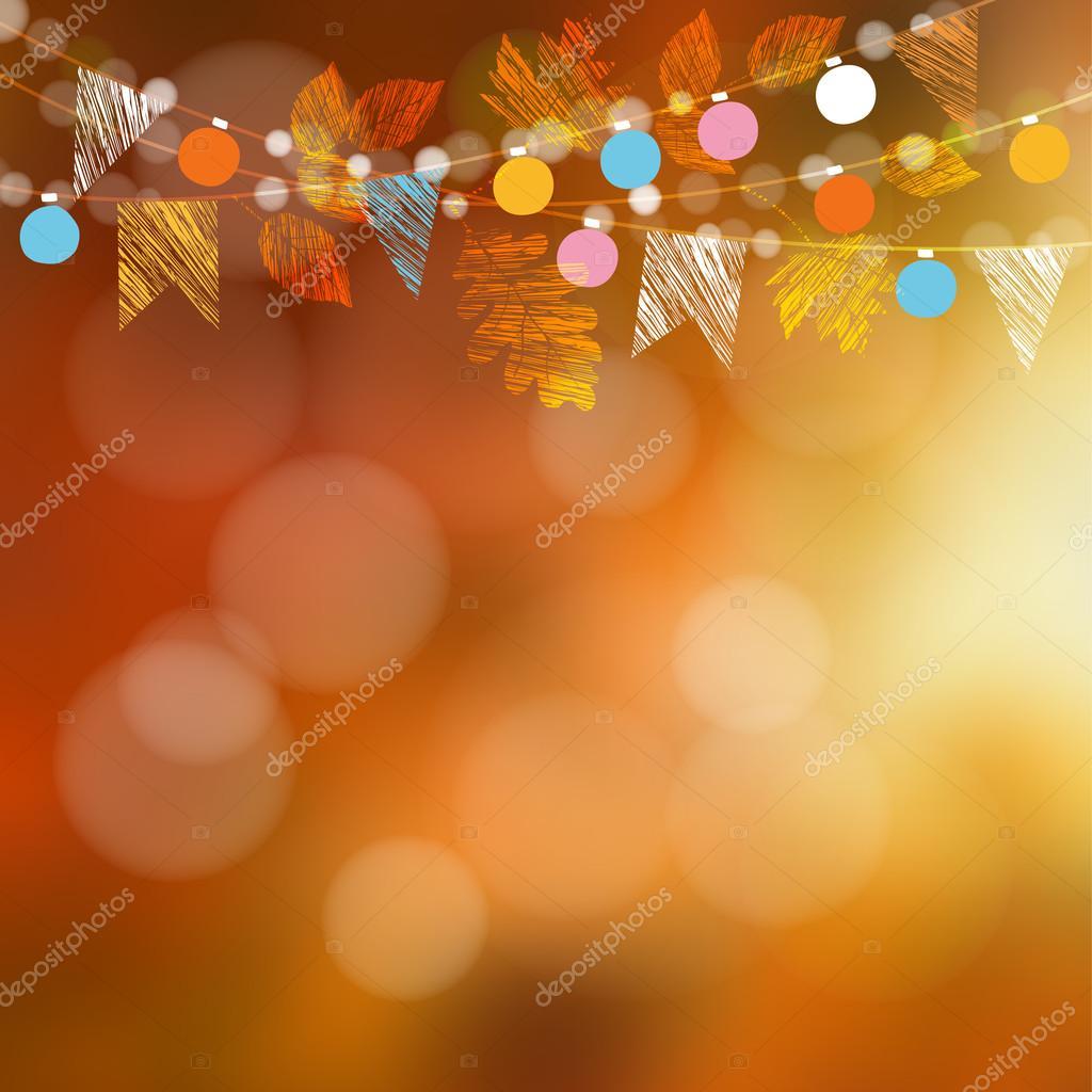 Cart u00e3o de outono outono, banner Decoraç u00e3o de festa de jardim Guirlanda de carvalho, folhas de  # Decoração Festa Folhas De Outono