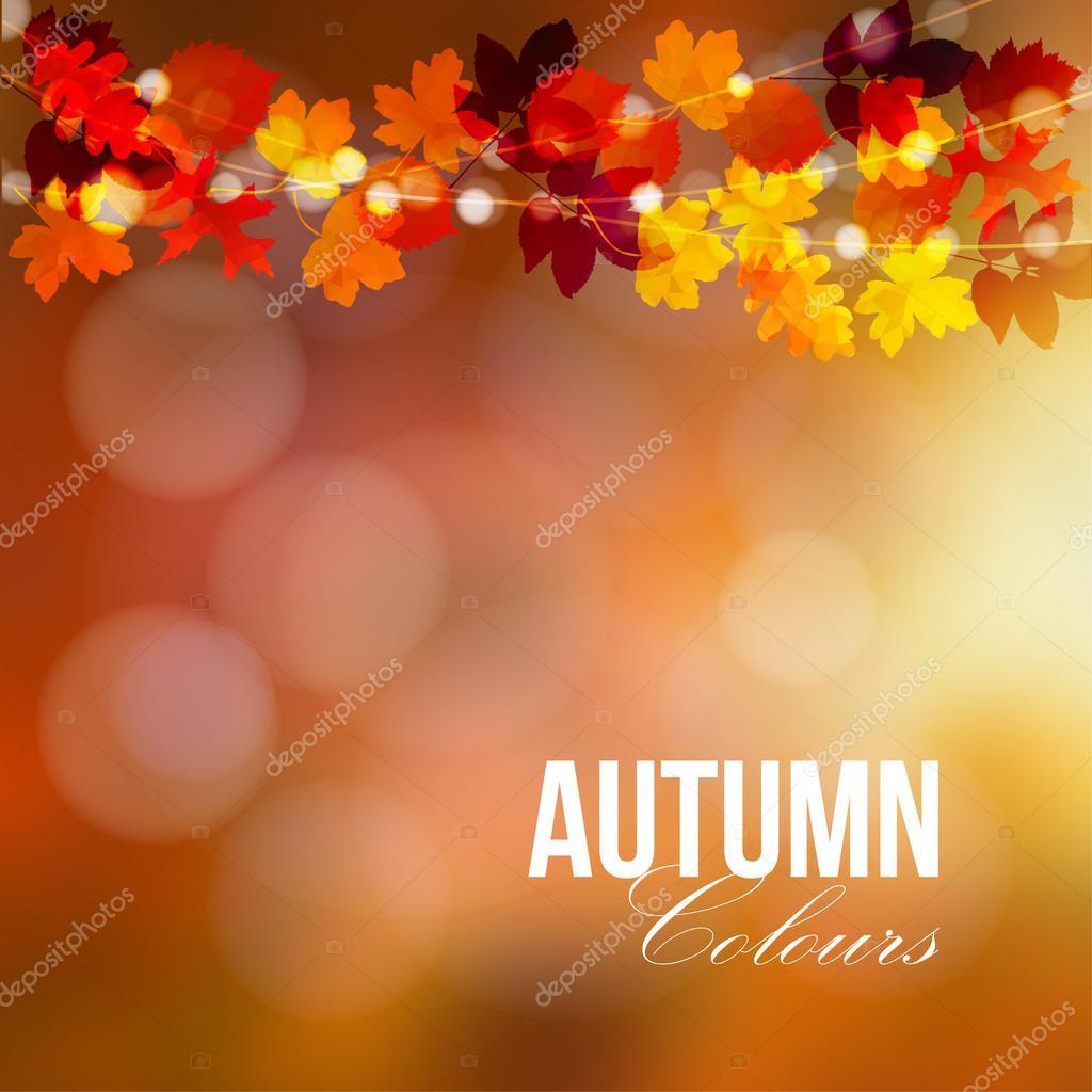 Outono, queda cart u00e3o, banner Decoraç u00e3o de festa de jardim Sequ u00eancia de carvalho poligonal  -> Decoração Festa Folhas De Outono