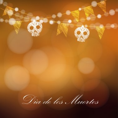 Dia de los muertos (Day of the Dead) or Halloween card, invitation