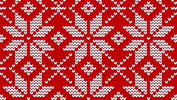 Christmas norwegian knitwear pattern, seamless loop background, flash 2D animation