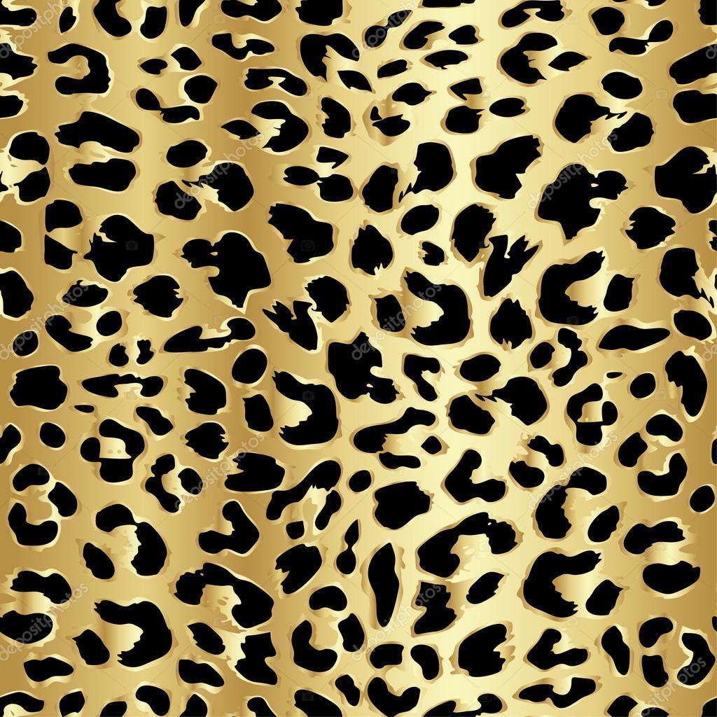 Immagini Leopardato Leopardata Senza Cuciture In Colore Oro Di