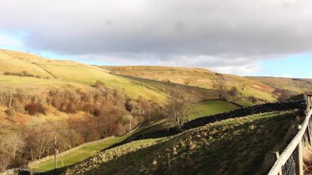 Napsütéses téli nap, vidéken ország Durham, Észak-Kelet Anglia