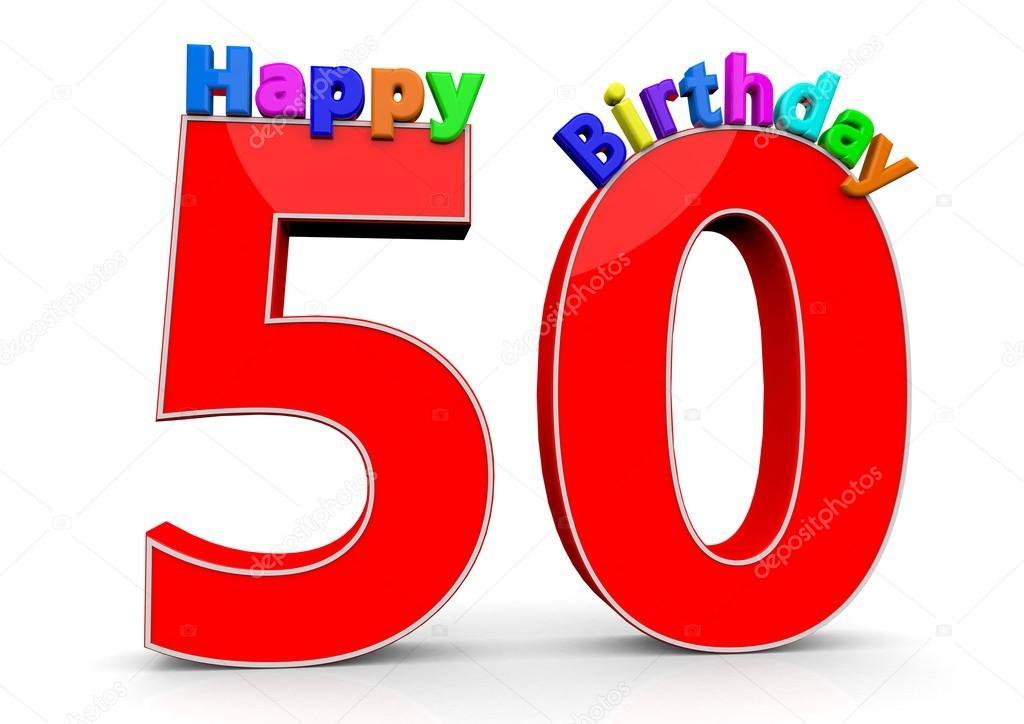 boldog 50 születésnapot képek A nagy piros szám 50 boldog születésnapot — Stock Fotó  boldog 50 születésnapot képek
