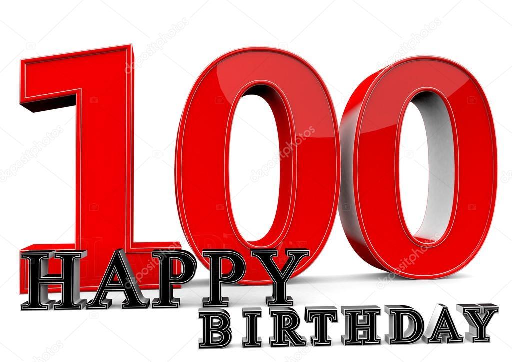 Gelukkige 100ste Verjaardag Stockfoto C Jonaswolff 73296763