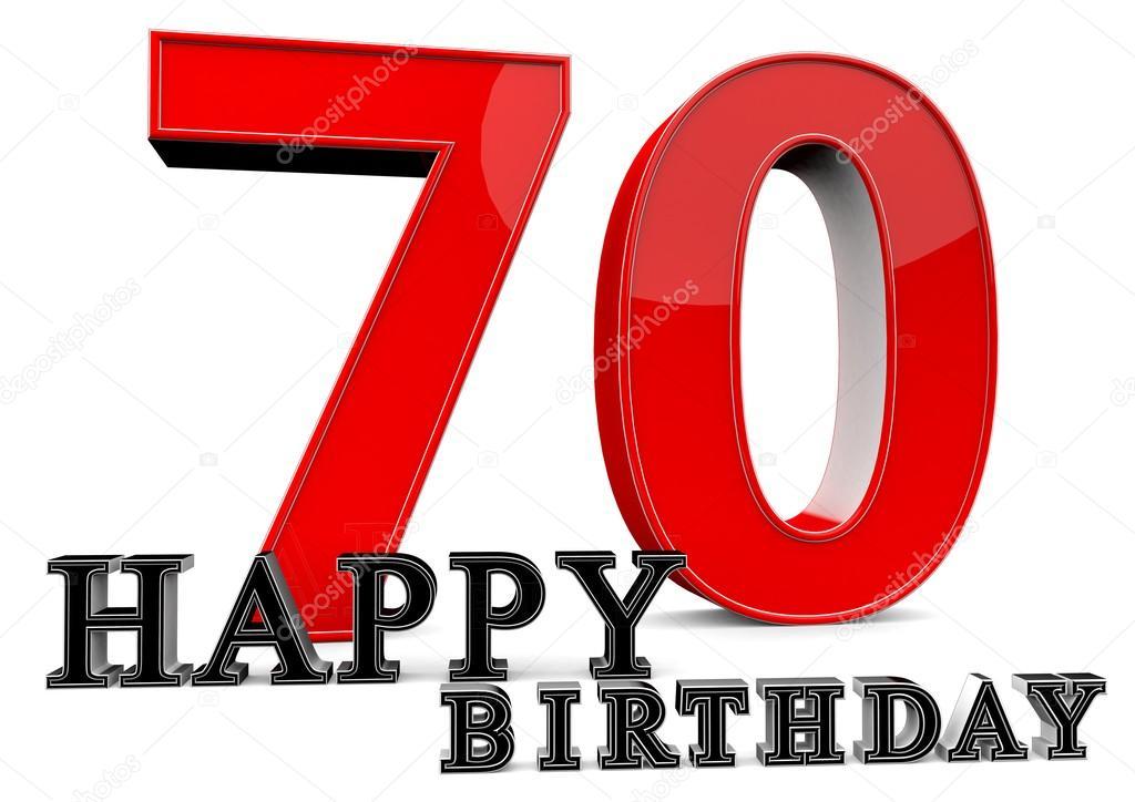 Happy 70th Birthday Stock Photo Jonaswolff 73296927