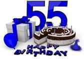 Všechno nejlepší k narozeninám v modrém