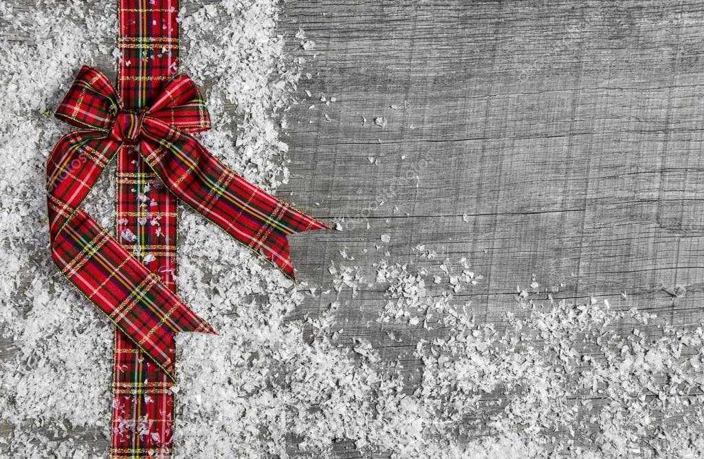 Country Christmas Background.Country Style Christmas Background With Red Green Checked