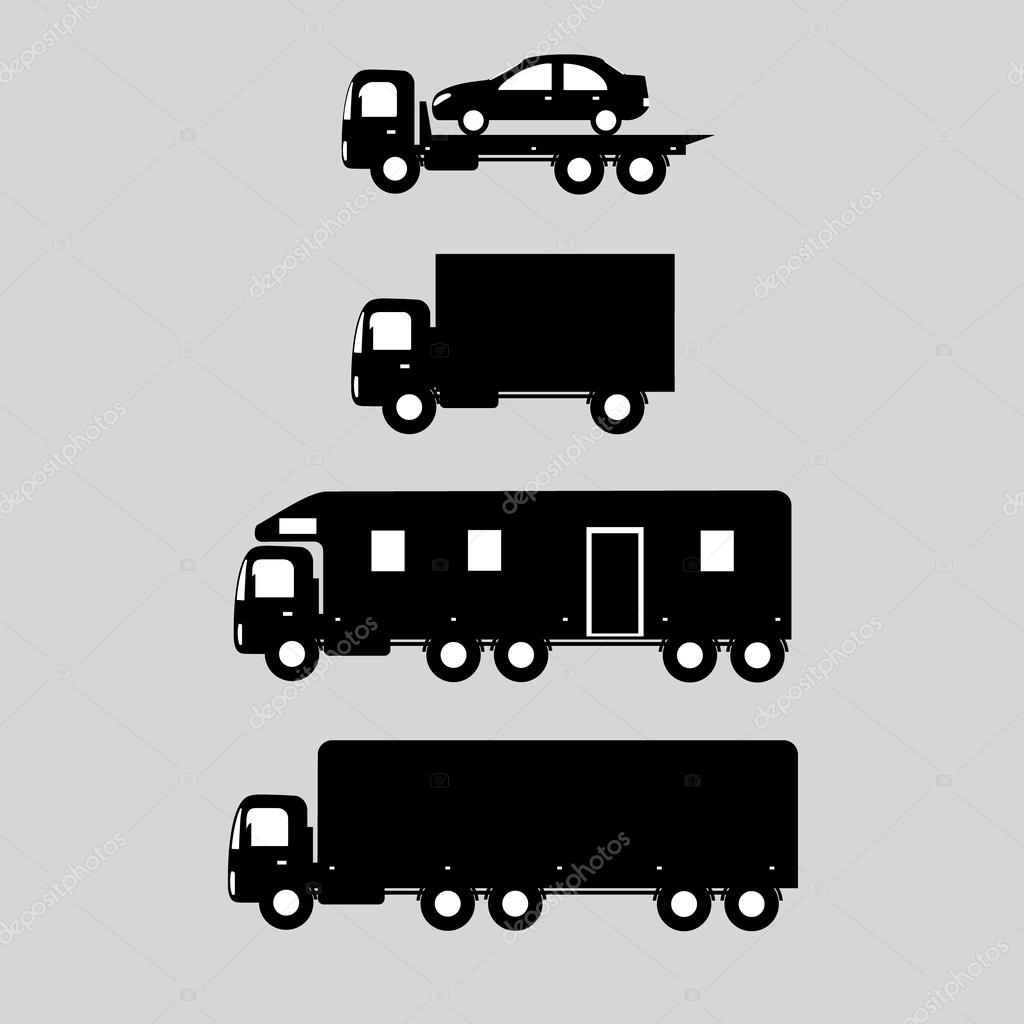 delivery vector trucks