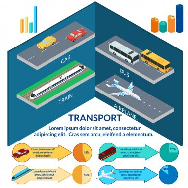 vector illustration. transports infographics