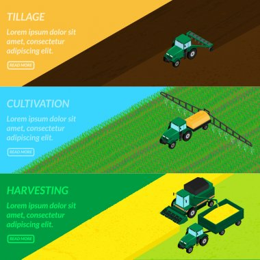 Web banners agriculture.