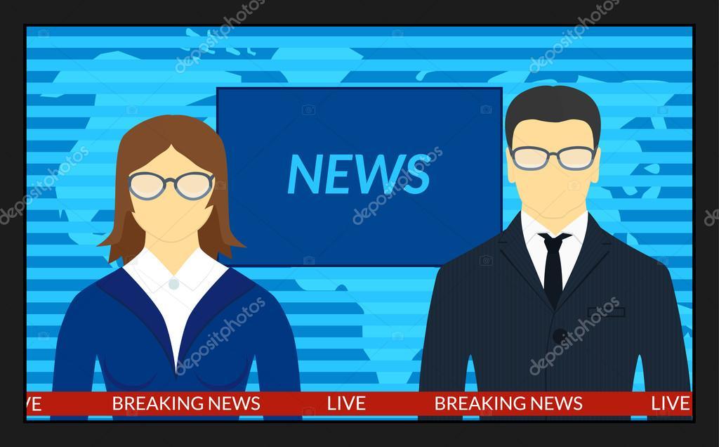 ニュース速報とテレビの画面 \u2014 ストックベクタ