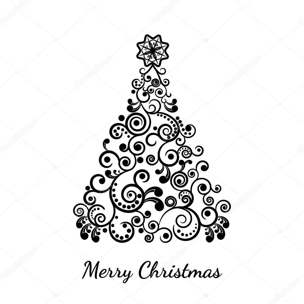 Immagini Stilizzate Natale.Albero Di Natale Stilizzato Vettoriali Stock C Kalen