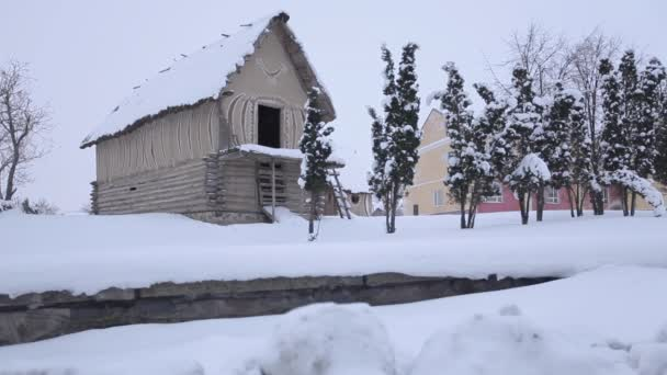Old Authentic House in Winter