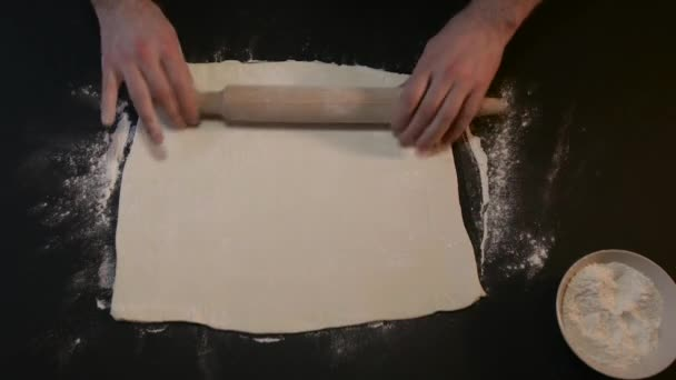 Man Floured Raw Dough