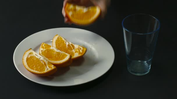 Hand Squeezed Orange Juice in a Glass