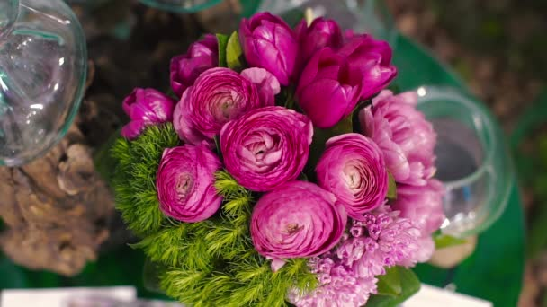 Ranunculus Bouquet of Tulips and a Lot of Flowers