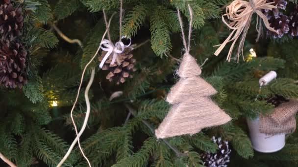Christmas Hessian Toys Hanging