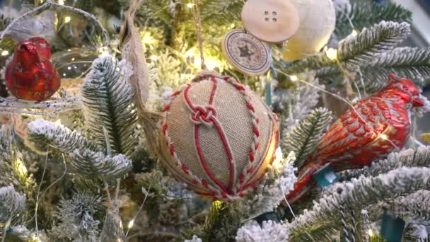 Christmas Tree Branch With Hessian Toy Ball