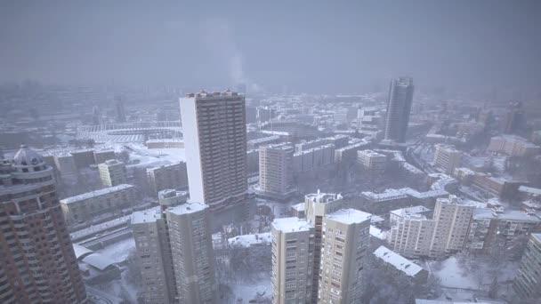 pohled na město z zimní