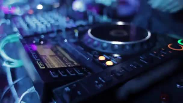 Close-up view on DJ Reduce Hand Music Party