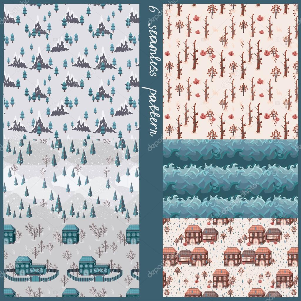 seamless pattern with maps elements