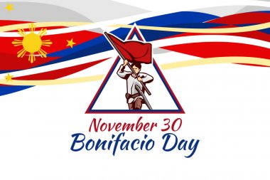 November 30, Happy Bonifacio Day vector illustration. Suitable for greeting card, poster and banner. icon