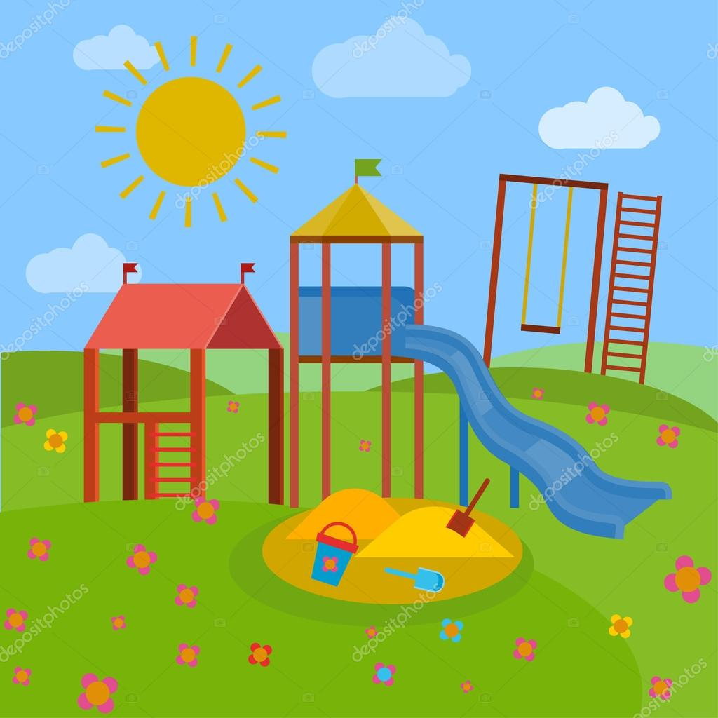 Children playground vector — stock annyart