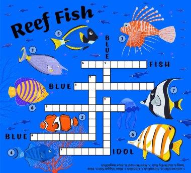 Coral reef fish crossword. Endangered fish species